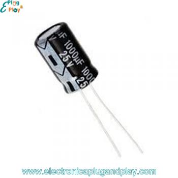 Condensador Electrolítico 1000uF 25V